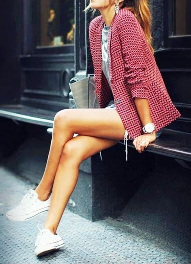 i have cute shoes like this - an outfit like this would be so cute to go along with the white sneakers i have