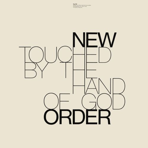 new order - touched by the hand of god.....designed by peter saville