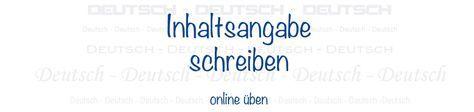 Inhaltsangabe schreiben - online üben