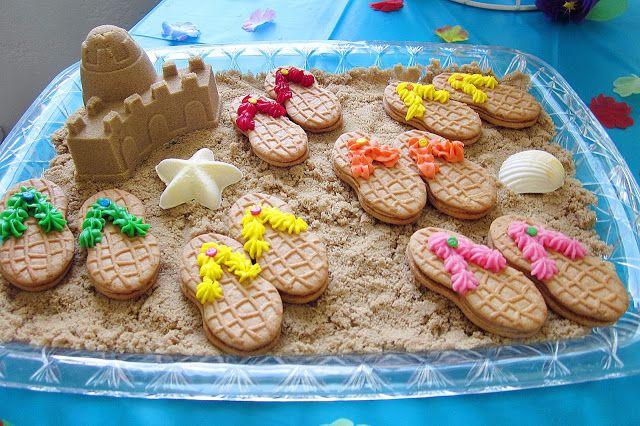 Flip Flop Cookies:  using Nutter Butter Cookies
