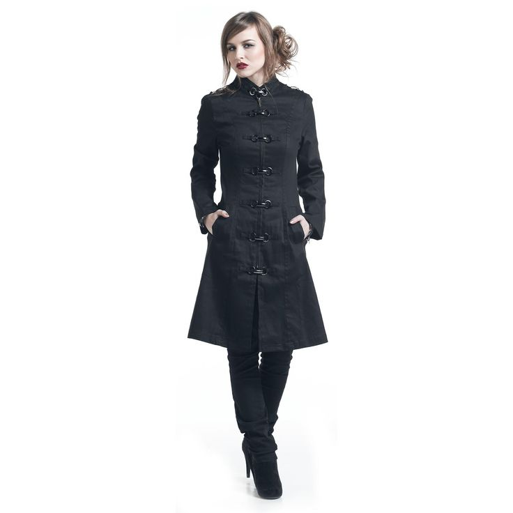 "Trench donna ""Goth Clip Coat"" del brand #H&RLondon."