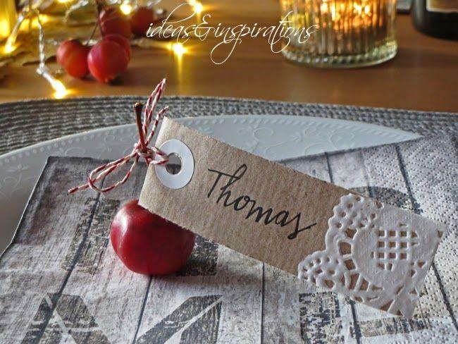 Ideas and Inspirations: DIY Tischkarten * place cards