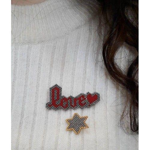 Love And Star Miyuki Broş