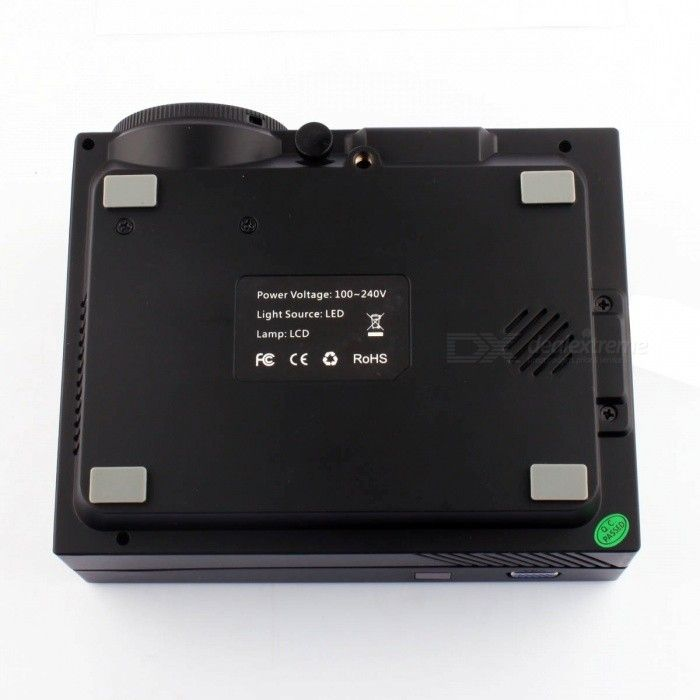 GM60 Mini Digital HD Home Theater Projector w/ HDMI, USB, SD - Black - Free Shipping - DealExtreme