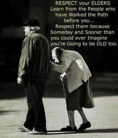 Elderly people deserve to be treated with so much respect.