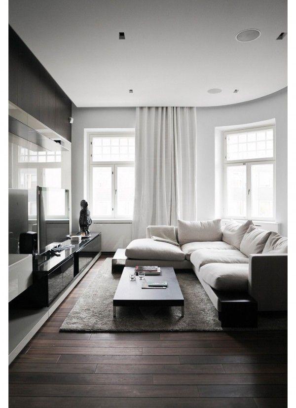 35 Gorgeous Ideas Of Dark Wood Floors That Look Amazing Dark Living Rooms Minimalist Living Room Design Minimalist Living Room