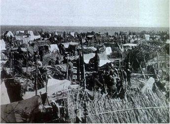 Los campos de concentración franceses y los republicanos españolesSaint Cyprien: una vista parcial del campo.