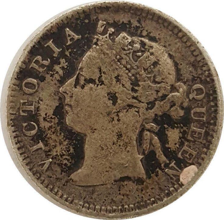 Don't delay, Buy today! RARE!  1898 Victoria Hong Kong Silver 5 Cents | Rare British - Hong Kong Coin