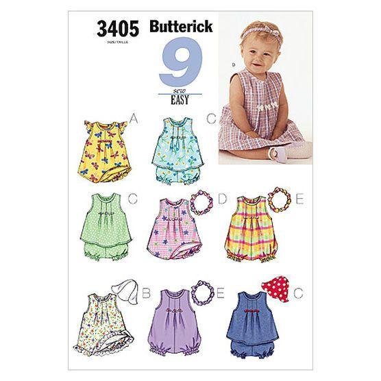 Infants' Dress, Top, Romper, Panties, Hat & Headband-NB0 (NB-S-M) Pattern at Joann.com