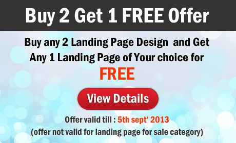 Landing page design discount offer to get free landing pages | High Converting Landing Page Design Blog