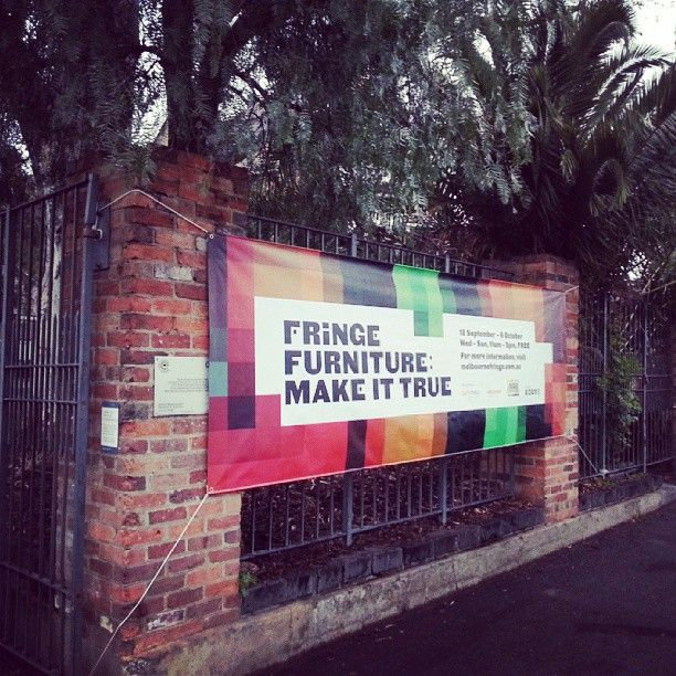 "@Melbourne Fringe's photo: ""The first thing you'll see... #melbfringe #fringefurniture #AbbotsfordConvent"""