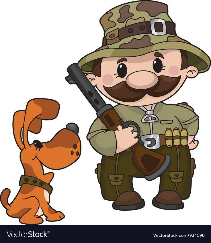 Картинка охотник мультяшный добрый