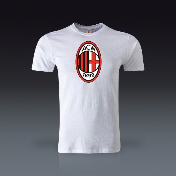 AC Milan Badge Fashion T-Shirt  - White