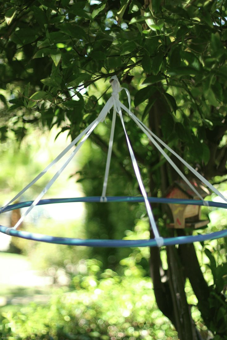Or use this type structure with streamers for circus tent - in trees?