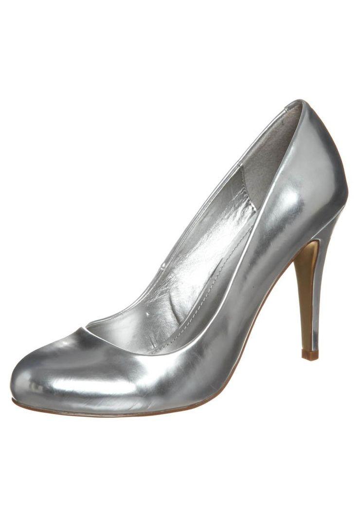 Metallischer High Heel Pump @ Zalando.ch ❤ Silver