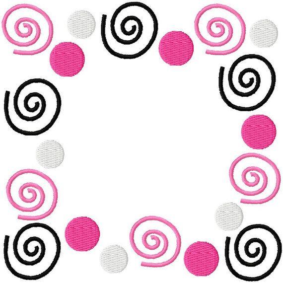 Swirl Monogram Alphabet