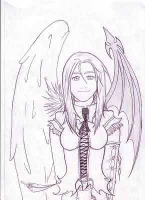 mes dessins: mi ange mi démon