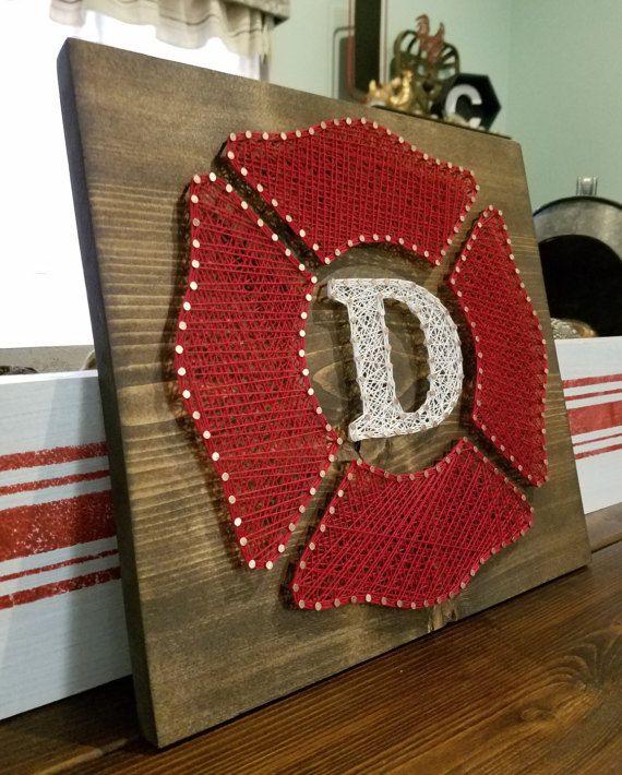 Firefighter Hero Tribute String Art