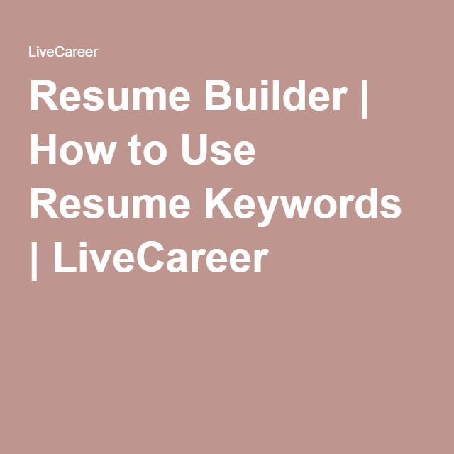 42 best Job Search Tips images on Pinterest Job search, Resume - Keywords To Use In A Resume