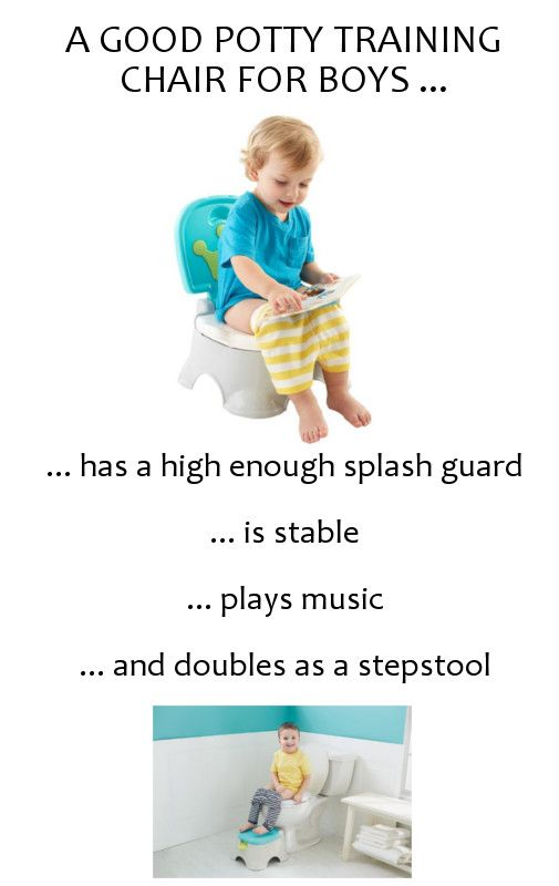 Potty training boys presents it's own unique challenges, such as making sure that pee actually lands in the toilet. What Is the Best Potty Chair for a Boy? So, how do you pick the best potty chair for your boy? You are looking for one that has a high-enough pee or splash guard. This ...