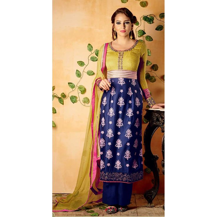 http://www.thatsend.com/ate/shopping/lp/fvp/TESG106668/i/TE127742/iu/blue-cotton-pakistani-salwar-kameez  Blue Cotton Pakistani Salwar Kameez Apparel Pattern Embroidered. Stiching Type Unstitched. Work Embroidery. Bottom Color Blue. Occasion Ceremonial. Top Color Blue.