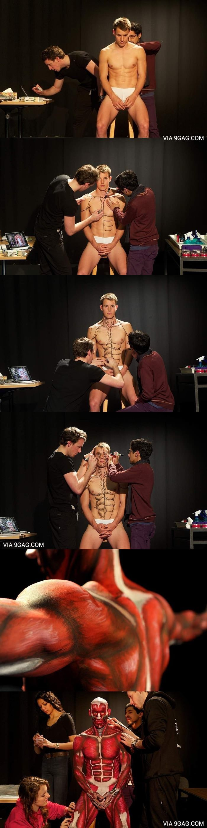 Students In Australia Learn Anatomy By Painting Anatomical Man