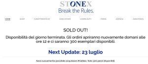 Stonex One, vendite subito sold out e riapertura rimandata a data da destinarsi