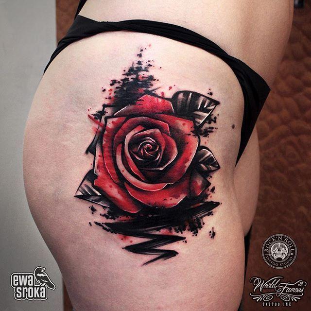 914 best Rose Tattoos images on Pinterest | Glitter ...