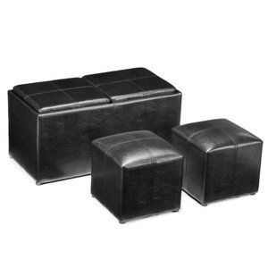 Jameson Double Storage Ottoman with Tray Tables $100