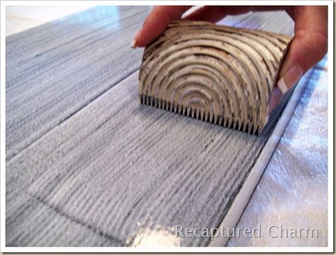 How to use a wood graining tool.