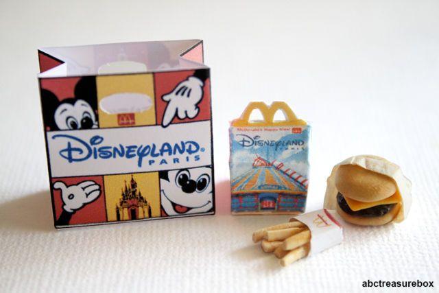 Disneyland Paris Mcdonalds Happy Meal - 1:12 Miniature Disney Food Cheeseburger | eBay