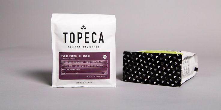 Topeca Coffee Roasters — The Dieline - Branding & Packaging Design