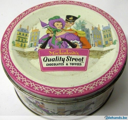 Vintage Quality Street tin,  still have one of these with Christmas hooks in it same as my mum did