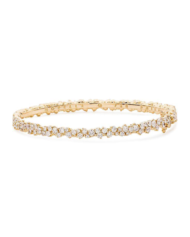 Confetti 18k Yellow Gold & Diamond Bangle Bracelet - Paul Morelli
