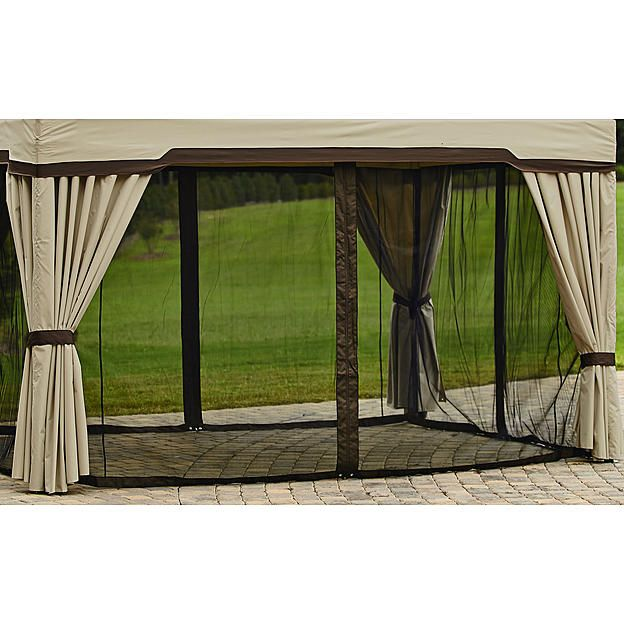 Garden Oasis Replacement Curtain For Privacy Gazebo 5w