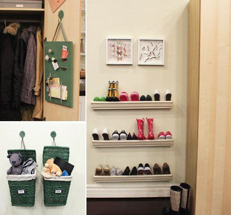 Charmant Eavestrough For A Shoe Rack. Entryway Storage Ideas For Families.