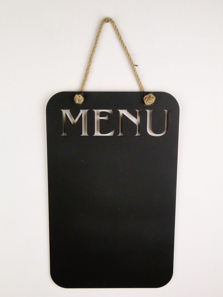 Tablica kredowa. Menu.
