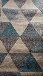benuta Teppiche: Moderner Designer Teppich Pastel Geomet Gelb 80x150 cm - GuT-Siegel - 100% Polypropylen - Geometrisch - Maschinengewebt - Wohnzimmer: Amazon.de: Küche & Haushalt