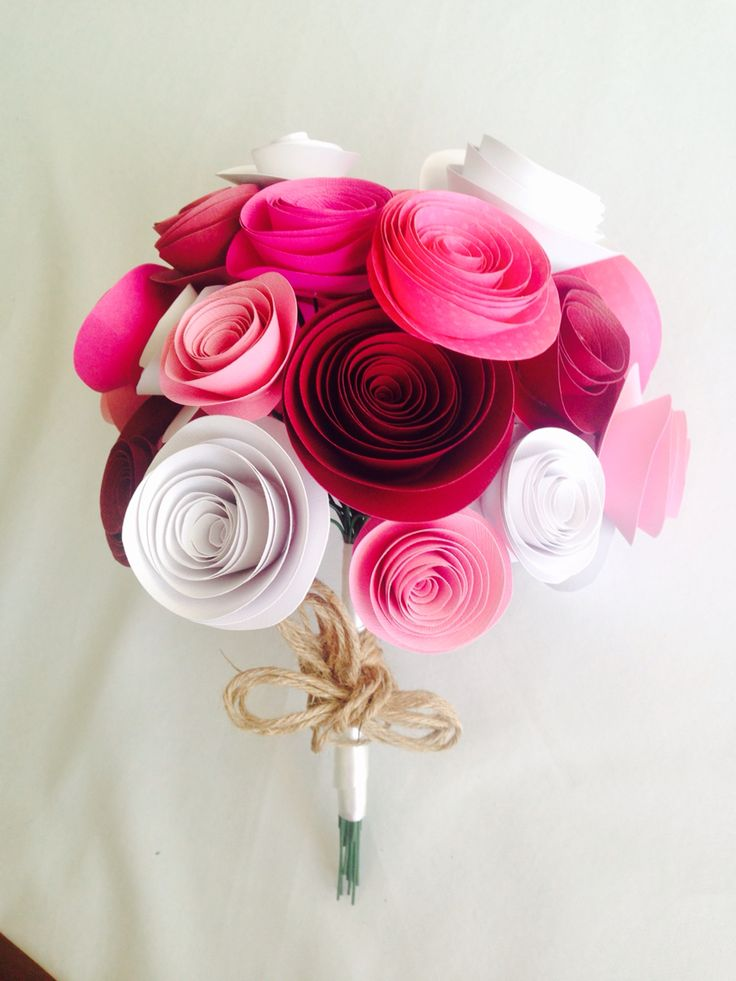 Pretty in pink paper flowers