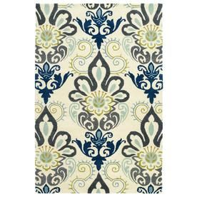 Kaleen Global Inspiration Blue Rectangular Indoor Handcrafted Southwestern Area Rug (Common: 5 X 8; Actual: 5-Ft W X 7.7