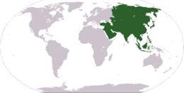 Wat behoort tot Azië?