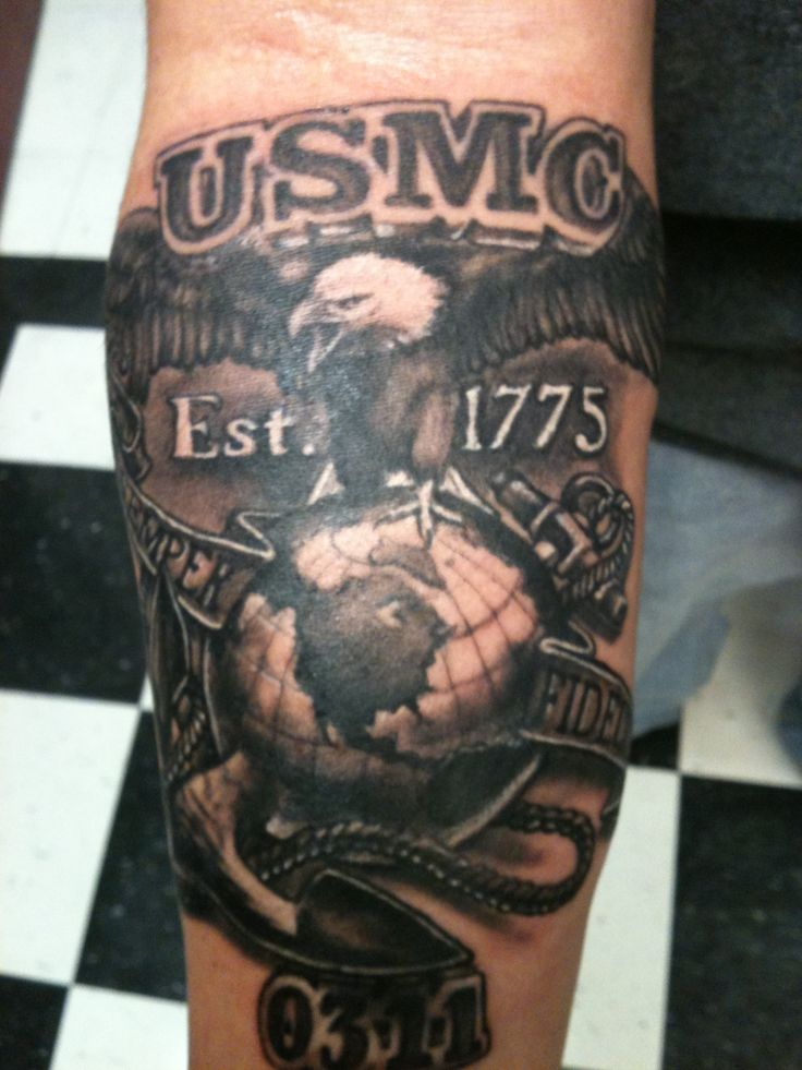 Best USMC tattoo I have ever seen, ever. Wow. Beats every idiot on ink master.