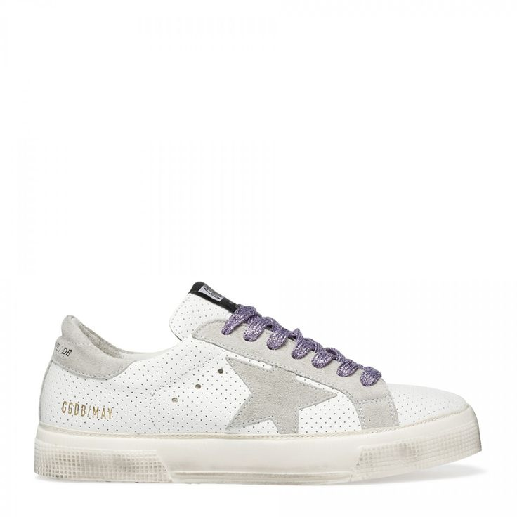 May white leather sneakers