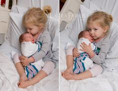 adorable first sibling photo in the hospital