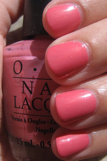 OPI Chapel of Love- loving this for spring with a coat of Princesses Rule