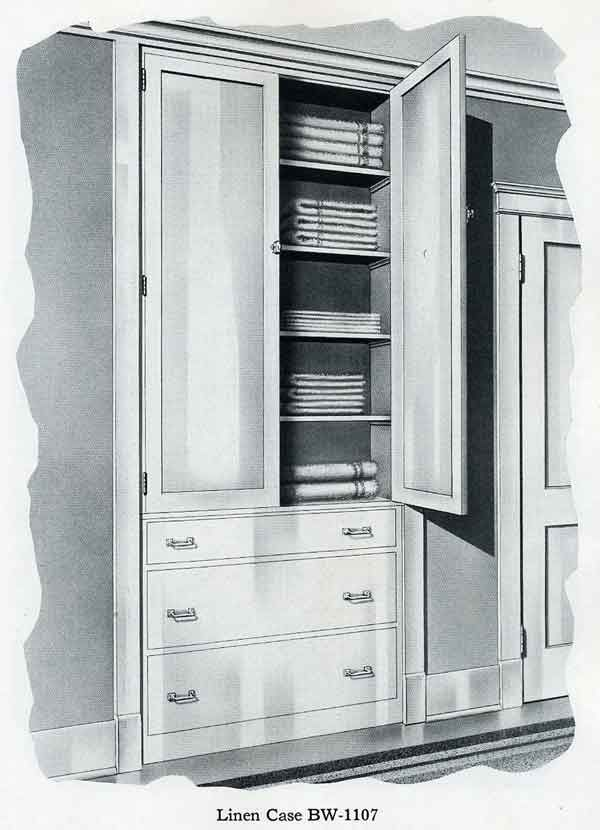 Bilt-Well Built-in Linen and Bathroom Cabinetry | 1920s ...