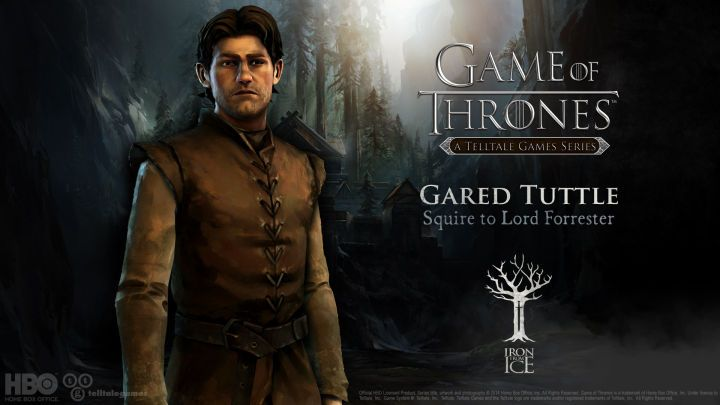 Gared Tuttle. Squire of Lord Forrester. With Lord Gregor Forrester's death Gared was sent to the wall for killing a Whitehill soldier after they murdered his family. He remains at the wall serving House Forrester well. Keep fighting Tuttle. #IronFromIce