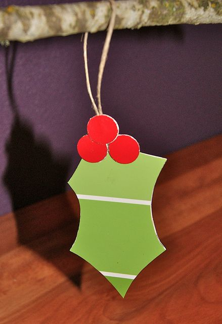 Paint Chip Holly Ornament by HA! Designs - Artbyheather, via Flickr