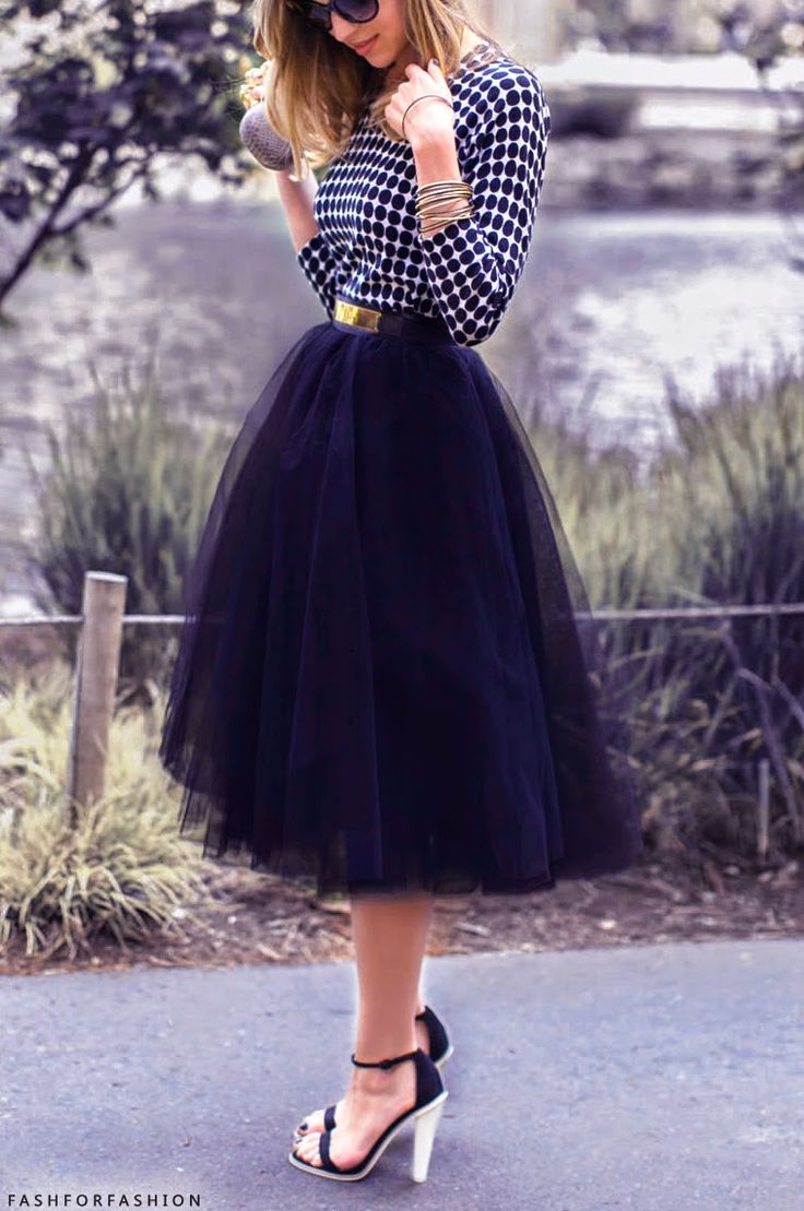 Still having a not so secret love affair with the idea of tulle skirts.