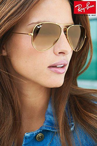 276f11fbe11 Ray Ban RB3025 001 51 Gold Gradient Brown Lenses Aviator Sunglasses 62mm